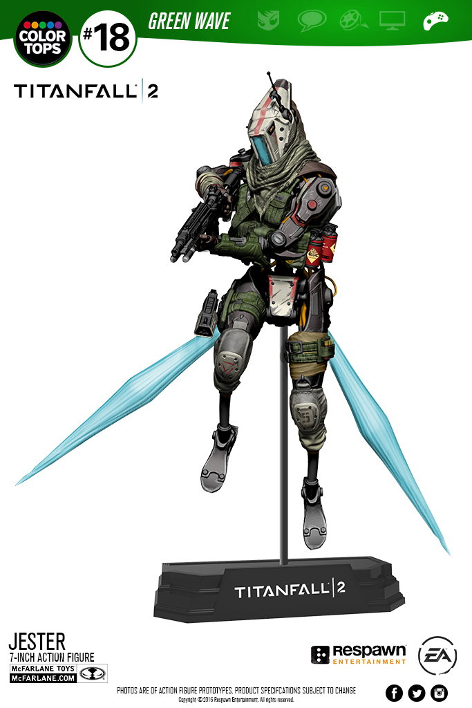 Mcfarlane Reveals Two New Titanfall 2 Color Tops Figures