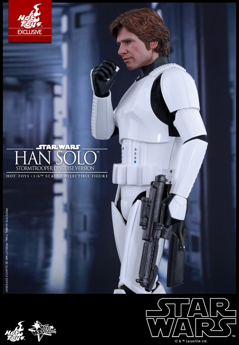 Hot Toys Star Wars A New Hope 1 6 Han Solo Stormtrooper Disguise Version Figures Com