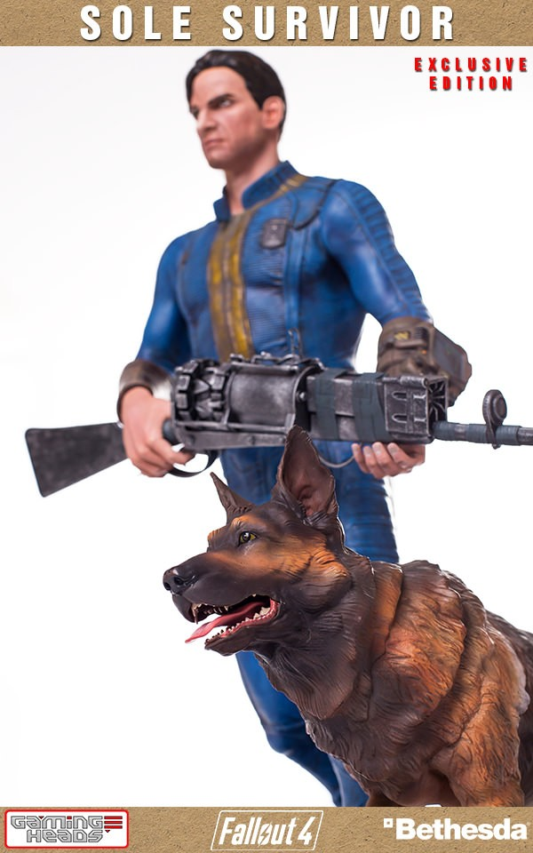 Gaming Heads Fallout 4 Sole Survivor 1 4 Scale Statue