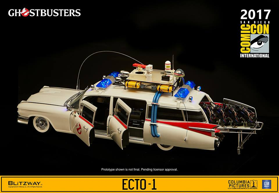 Hobby Store San Diego >> SDCC 2017: Blitzway Ghostbusters 1/6th scale Ecto-1 ...