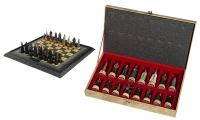 """<h5><a href=""""https://shop.eaglemoss.com/usa/the-hobbit-and-lord-of-the-rings/battle-for-middle-earth-chess-set"""" TARGET=""""_BLANK"""">BATTLE FOR MIDDLE-EARTH CHESS SET</a> $396</h5><p>This 32-piece chess pieces portrays the great cast of characters of The Lord of the Rings in their final stand in the Great War of the Ring. Every detail is authentic, richly realistic and genuine to the Academy Award-winning The Lord of the Rings trilogy. The chess board is a noble work of art and an ancient map of Middle-earth mounted below the playing surface.<a href=""""https://shop.eaglemoss.com/usa/the-hobbit-and-lord-of-the-rings/battle-for-middle-earth-chess-set"""" TARGET=""""_BLANK"""">ORDER HERE</a></p>"""