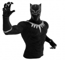 <h5>BLACK PANTHER PVC BUST BANK</h5><p>Black Panther strikes a powerful pose as Monogram's highly-detailed, light-weight, and durable bust bank.   The Black Panther bust bank is a sophisticated, decorative piece and perfect for saving up to be rich as the King of Wakanda.  Available at Gift and Specialty stores near you!</p>