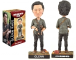 """<h5><a href=""""http://www.royalbobbles.com/bobbleheads/glenn-twd/"""" TARGET=""""_BLANK"""">GLEN BOBBLEHEAD</a></h5><p>The Glenn bobblehead from Royal Bobbles pays tribute to one of the most loved characters of The Walking Dead. Fans of the show will love the stunning likeness and nod to some of Glenn's most iconic moments. Herschel's watch hangs from his hip, Glenn's baseball cap and walkie talkie lay behind him, and he is featured holding his AK-47.</p>"""