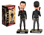 """<h5><a href=""""http://www.royalbobbles.com/bobbleheads/negan/"""" TARGET=""""_BLANK"""">NEGAN BOBBLEHEAD</a></h5><p>The Negan bobblehead from Royal Bobbles showcases Negan in true sinister form as first introduced to fans of The Walking Dead. Negan is depicted wearing his black leather jacket and blood red scarf, with infamous barbed wire baseball bat, Lucille, in hand. It is clear to see that Negan means business at any cost. </p>"""