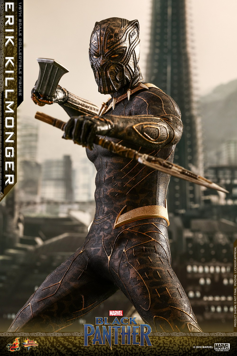 Hot Toys Marvel S Black Panther 1 6th Scale Erik