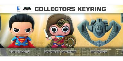 Batman vs Superman 5pcs Keyring Set Rendering