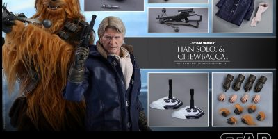 Hot Toys - Star Wars TFA - Han Solo & Chewbacca Collectible Figures Set PR_8