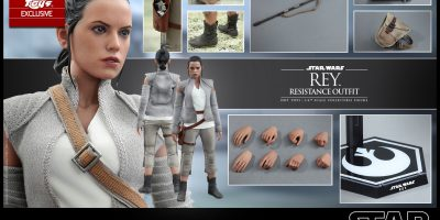 Hot Toys Exclusive - Star Wars TFA - Rey (Resistance Outfit) Collectible Figure_PR14