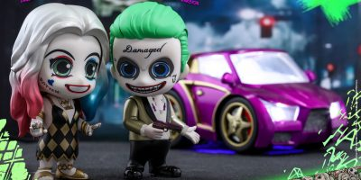 Hot Toys - SS - Joker (Light Gold Suit Version) & Harley Quinn (Dancer Dress Version) Cosbaby Collectible Set_PR1