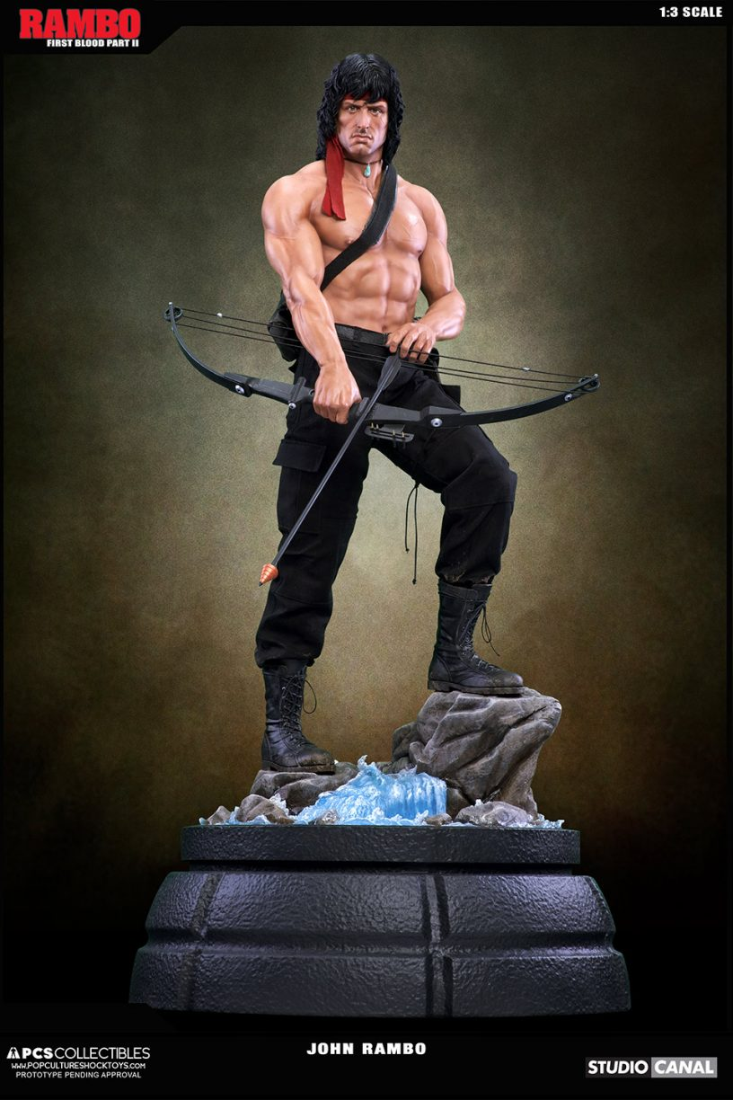 Pcs Collectibles Presents Rambo 1 3 Scale Statue Figures Com