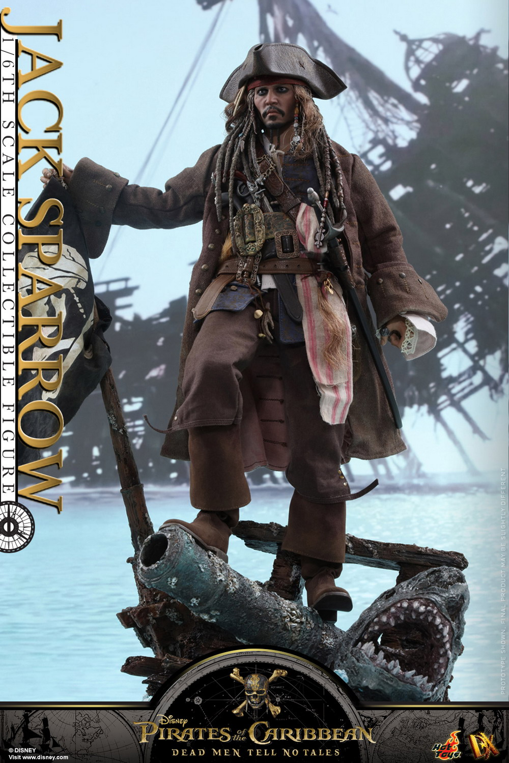 Hot Toys Captain Jack Sparrow POTC DX15 Black Pearl in Bottle loose 1//6th scale