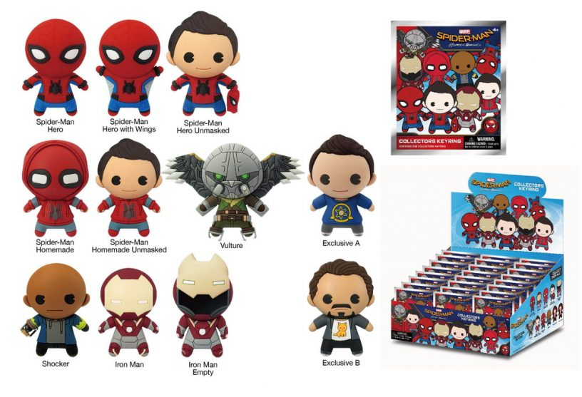 68510 Spider-Man Homecoming 3D Figural Key Chain-01