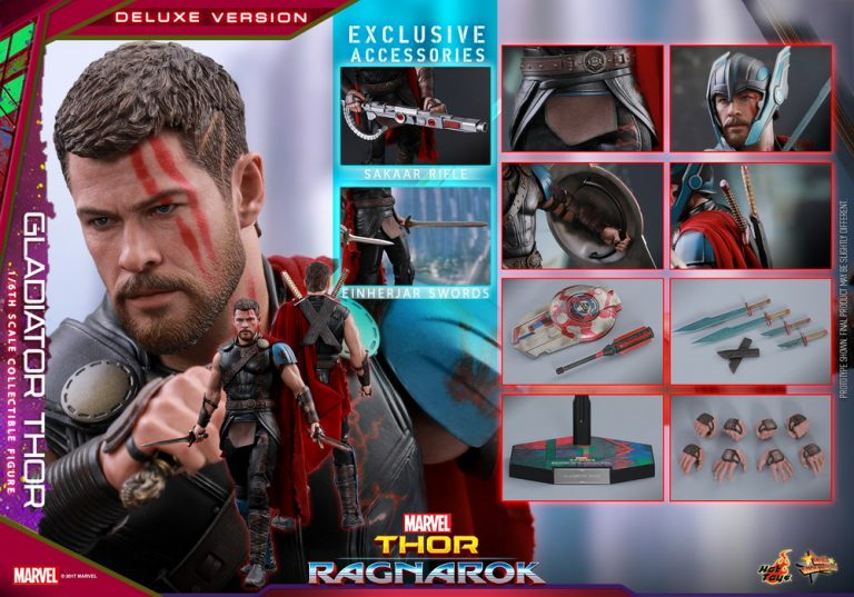 Hot Toys Thor Ragnarok Gladiator MMS445 Figure Stand loose 1//6th scale