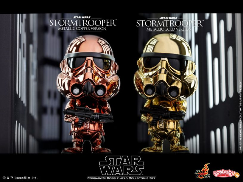 Hot Toys - SW - Stormtrooper (Metallic Color Ver) Cosbaby Bobble-Head Collectible Set_PR1