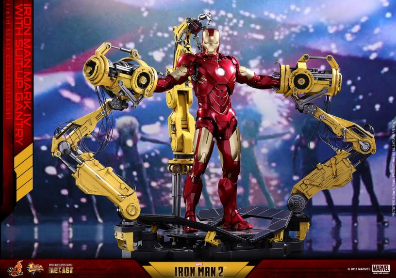 Hot Toys - IM2 - Mark IV with Suit Up Gantry collectible figure set_PR2
