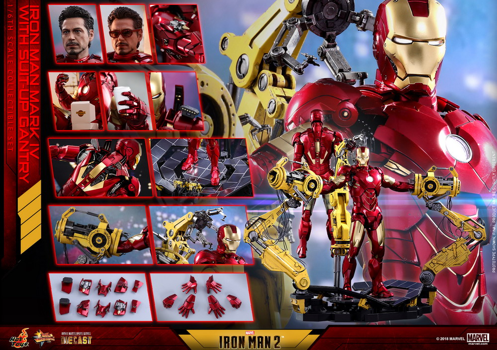Hot Toys - IM2 - Mark IV with Suit Up Gantry collectible figure set_PR30