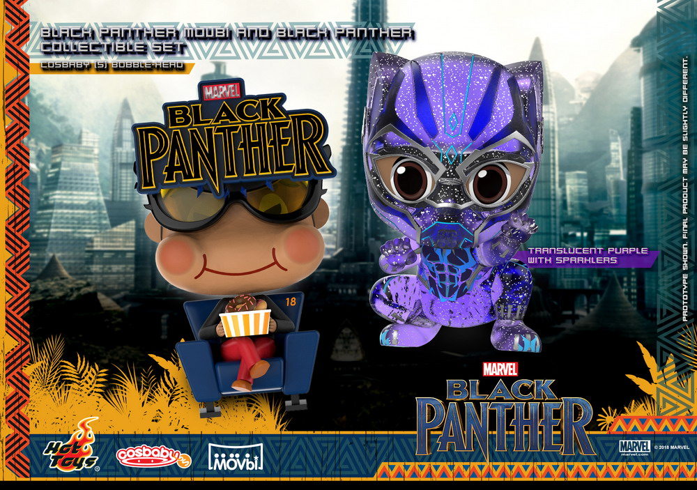 Hot Toys - Black Panther Movbi and Black Panther Cosbaby (S) Bobble-Head Collectible Set_PR1
