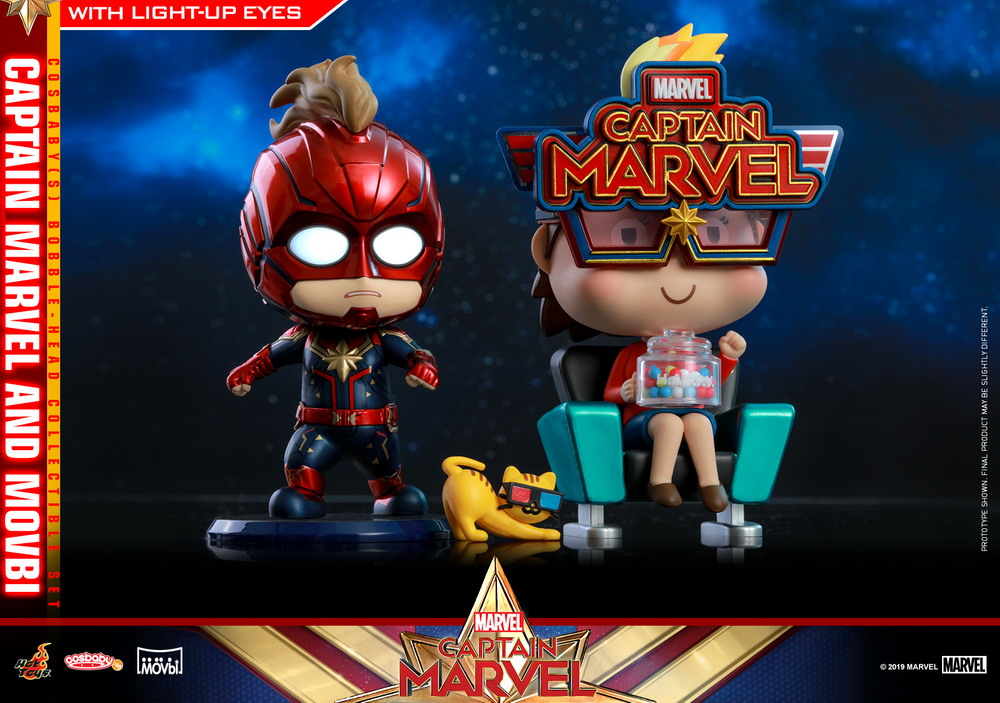 Hot Toys - Captain Marvel - Captain Marvel and Movbi Cosbaby Bobble-head Collectible Set (S)_PR1