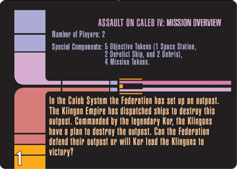 Assault on Caleb IV Mission card 1