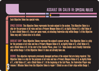 Assault on Caleb IV Mission card 3