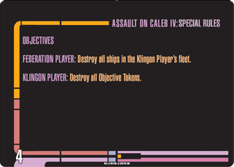 Assault on Caleb IV Mission card 4