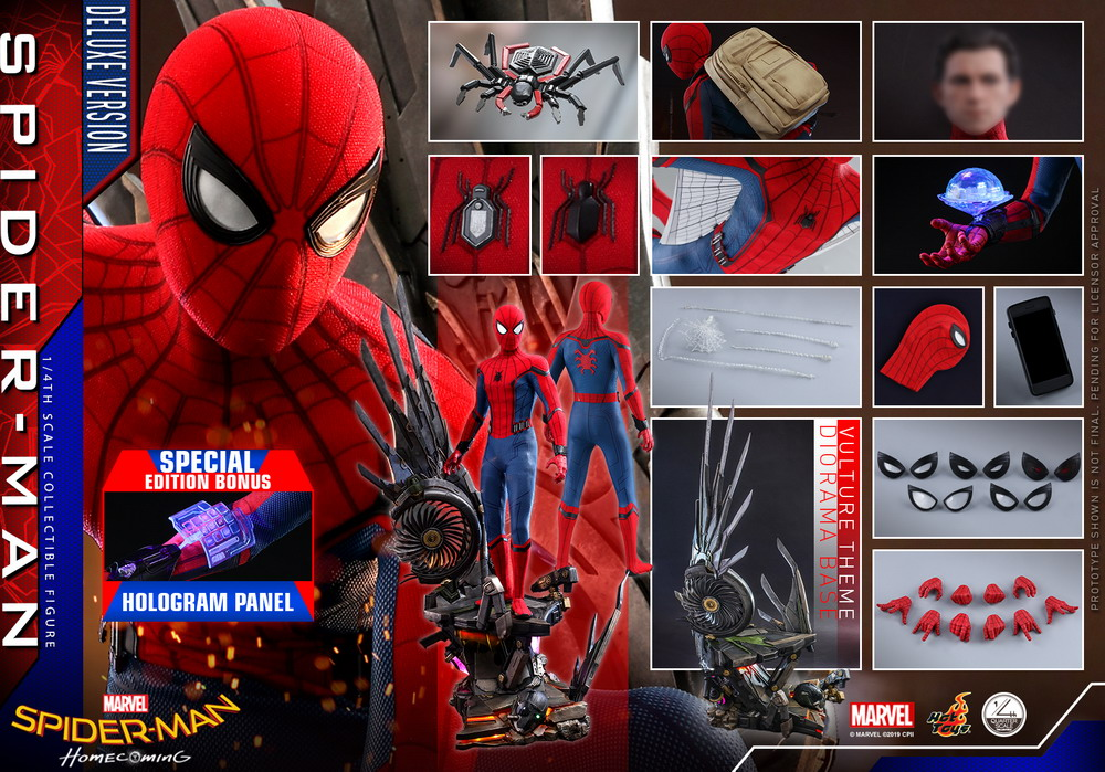 Hot Toys - SMHC - 1-4 Spider-Man collectible figure (Deluxe)_PR30 (Special)