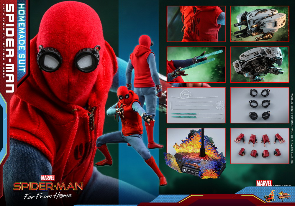 Hot Toys - Spider-man Far From Home - Spider-man (Homemade Suit)_PR16