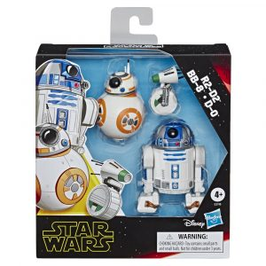 STAR WARS GALAXY OF ADVENTURES 5-INCH R2-D2, BB-8, & D-O DROID 3-PACK - in pck