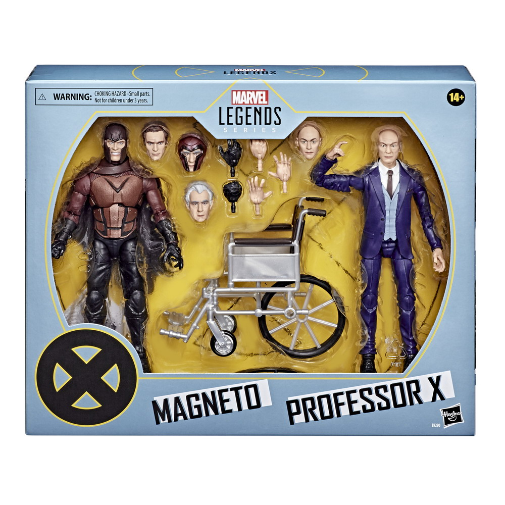 MARVEL LEGENDS SERIES X-MEN 20TH ANNIVERSARY 6-INCH MAGNETO AND PROFESSOR X Figure 2-Pack - in pck (2)