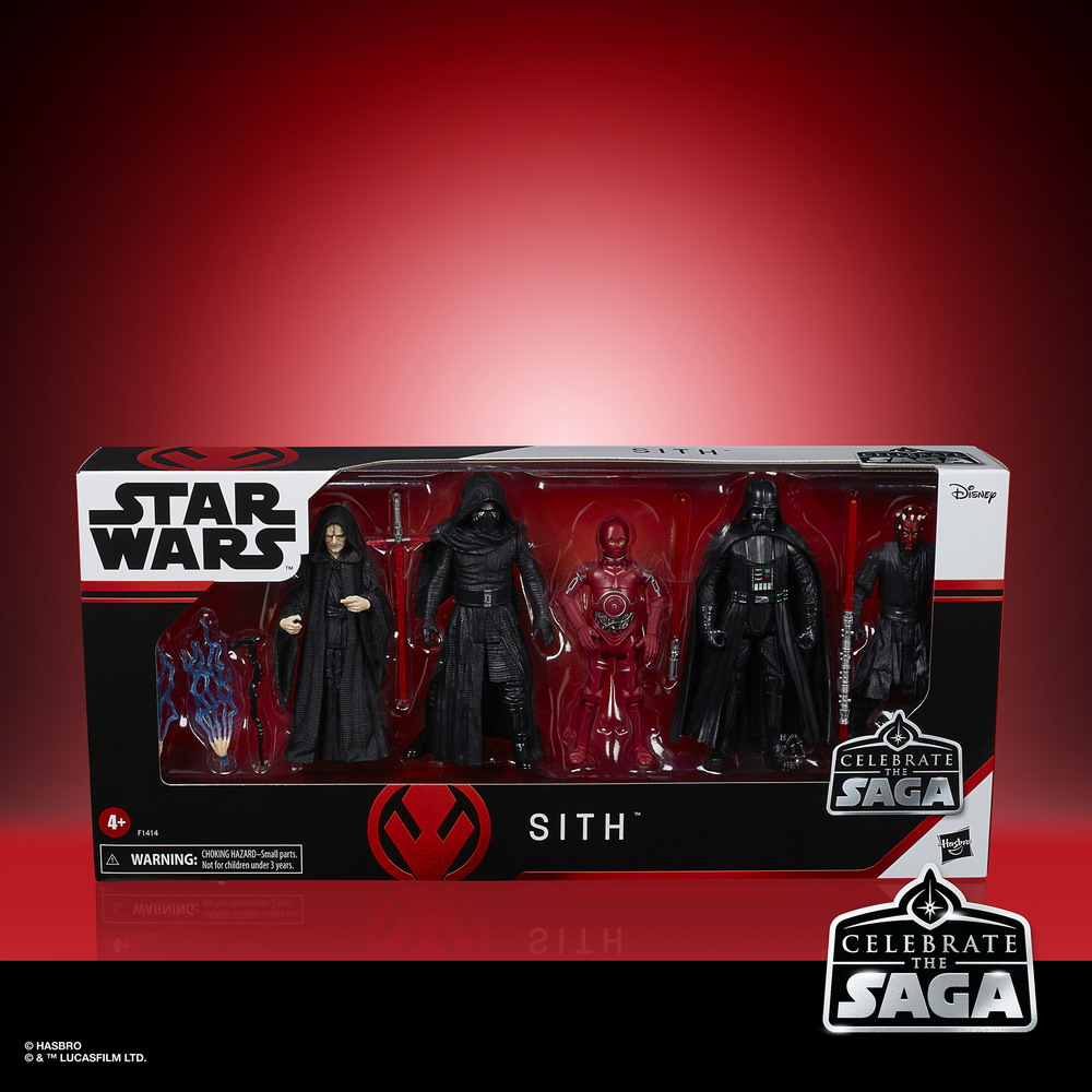STAR WARS CELEBRATE THE SAGA 3.75-INCH SITH Figure 5-Pack - in pck