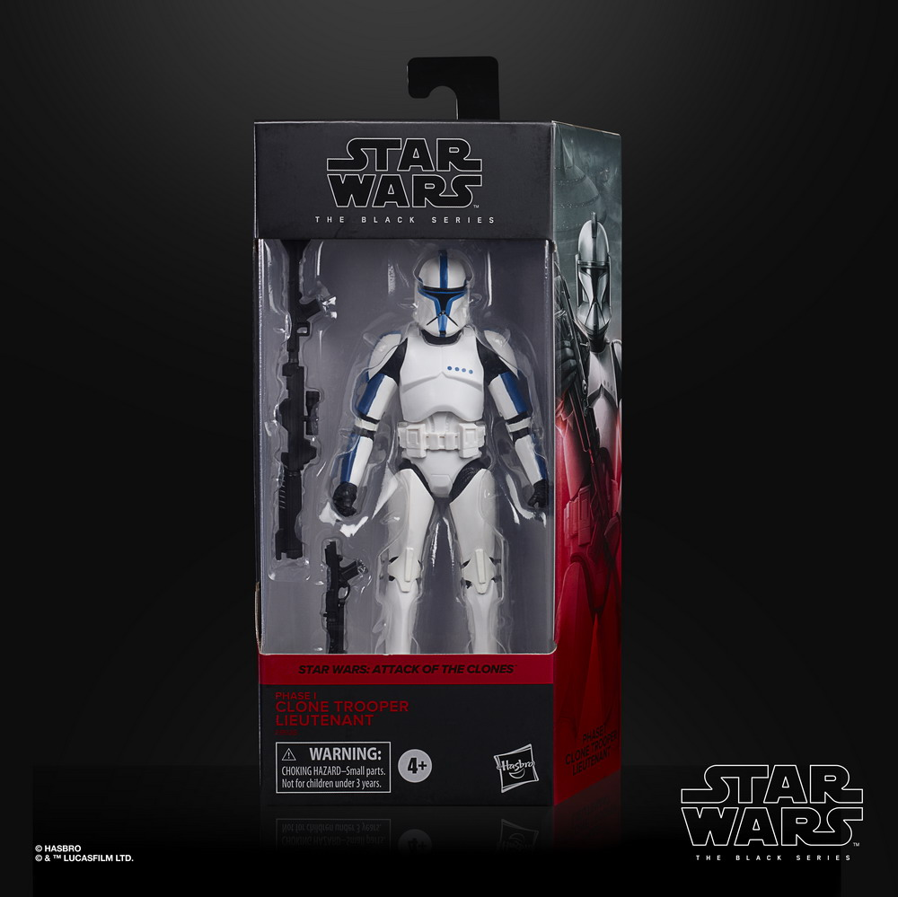 STAR WARS THE BLACK SERIES 6-INCH PHASE I CLONE TROOPER LIEUTENANT Figure - in pck (1)