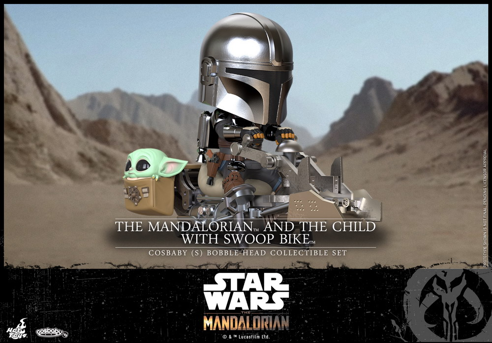 Hot Toys - Mandalorian II - Mandalorian and Child with Swoop Bike Cosbaby_PR1