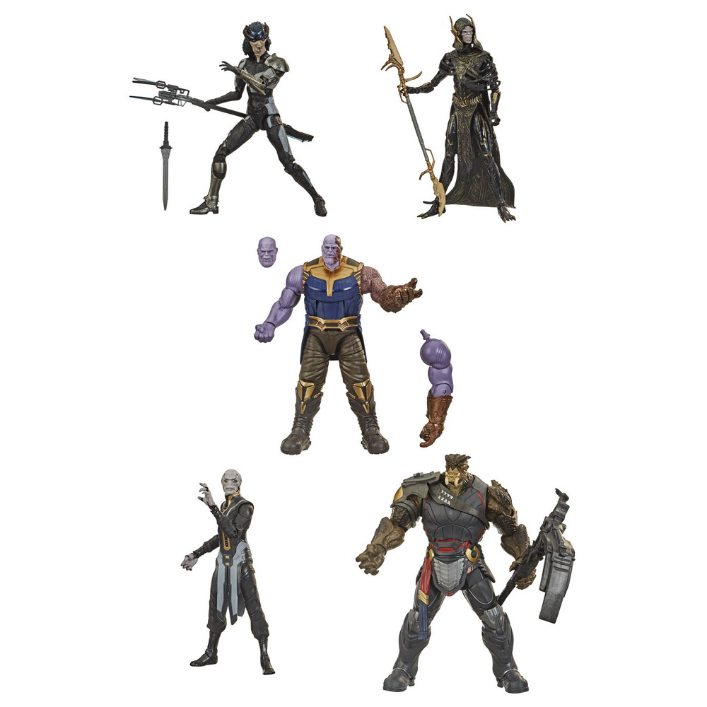 MARVEL LEGENDS SERIES 6-INCH-SCALE THE CHILDREN OF THANOS Figure 5-Pack - oop