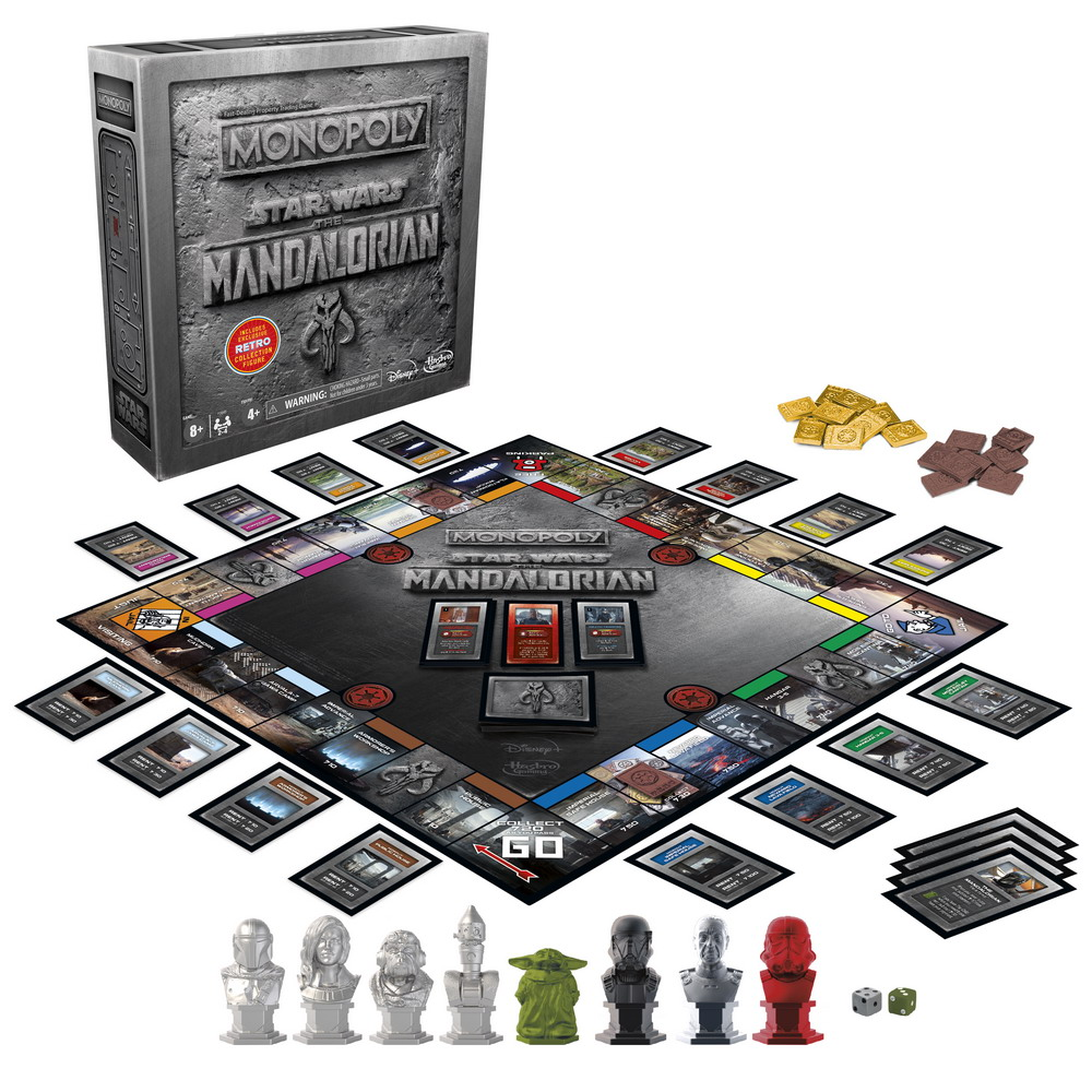 MONOPOLY STAR WARS THE MANDALORIAN EDITION With Figure - oop