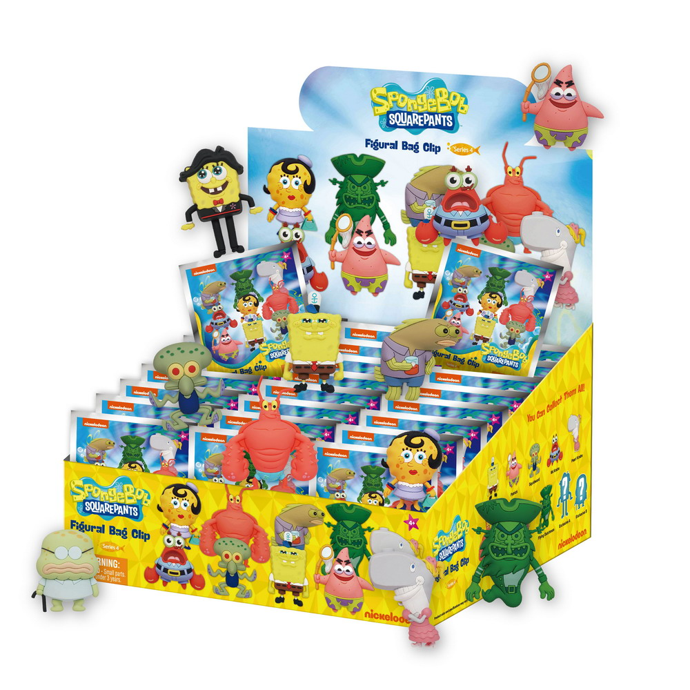 63255 Nickelodeon s4 3D Bag Clip PDQ style image