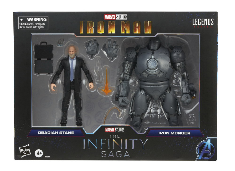 MARVEL LEGENDS SERIES 6-INCH INFINITY SAGA OBADIAH STANE AND IRON MONGER Figure 2-Pack - in pck