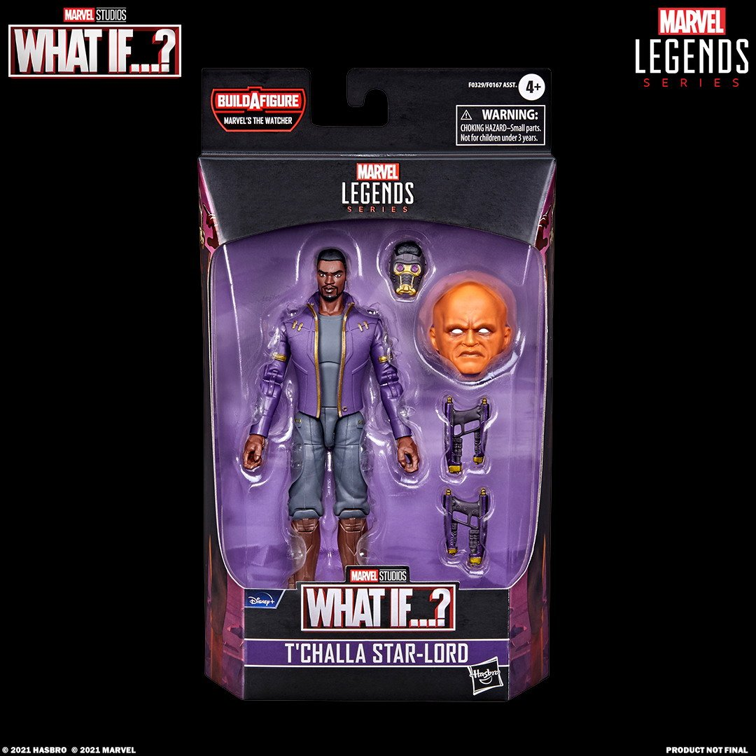 MARVEL LEGENDS SERIES 6-INCH T'CHALLA STAR-LORD Figure_in pck with logo