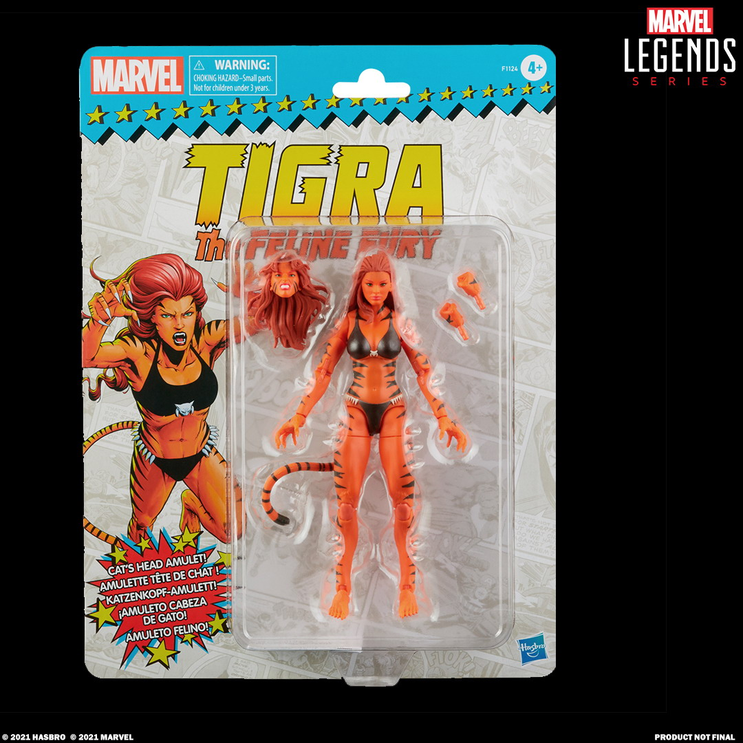 MARVEL LEGENDS SERIES 6-INCH TIGRA Figure_in pck with logo
