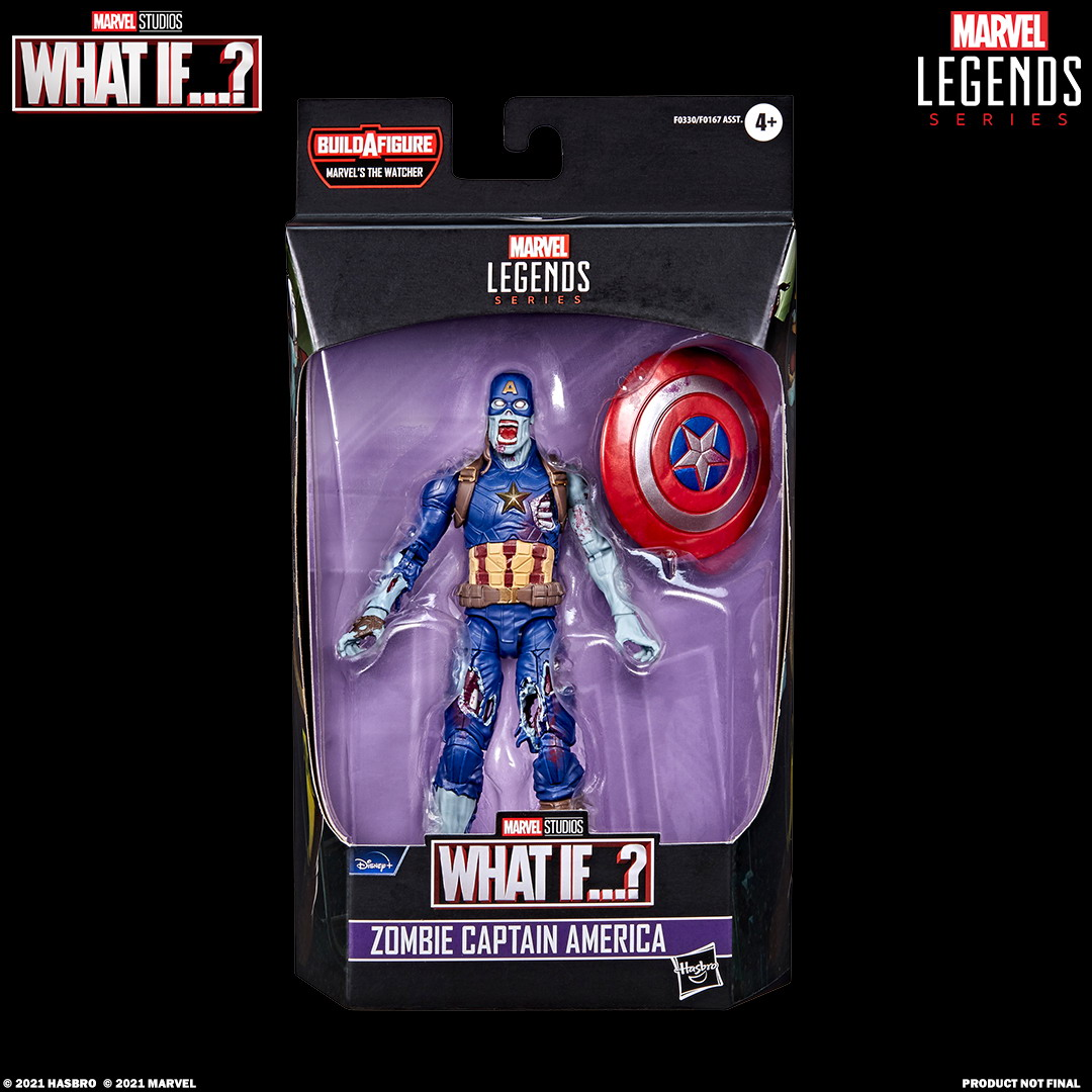 MARVEL LEGENDS SERIES 6-INCH ZOMBIE CAPTAIN AMERICA Figure_in pck with logo
