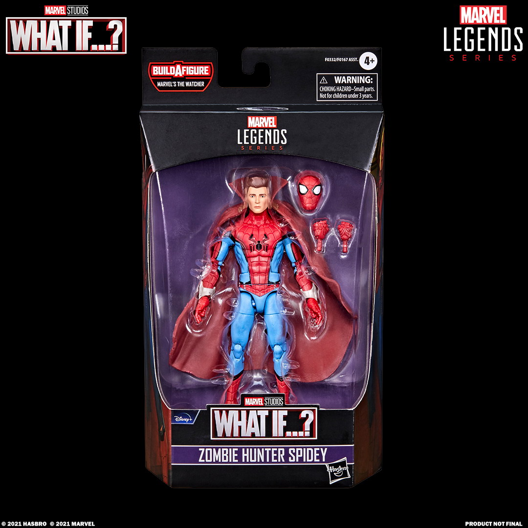 MARVEL LEGENDS SERIES 6-INCH ZOMBIE HUNTER SPIDEY Figure_in pck with logo