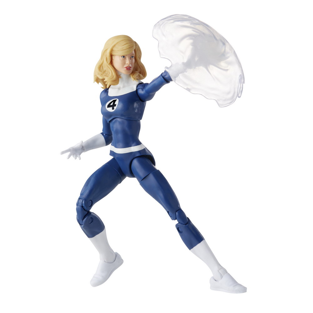 MARVEL LEGENDS SERIES 6-INCH RETRO FANTASTIC FOUR MARVEL'S INVISIBLE WOMAN Figure_oop 4