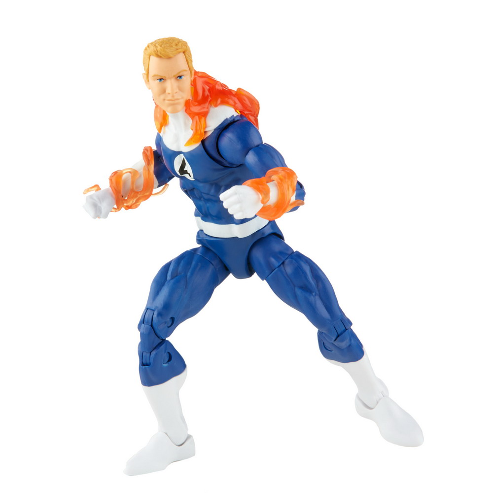 MARVEL LEGENDS SERIES 6-INCH RETRO FANTASTIC FOUR THE HUMAN TORCH Figure (Powered Down)_oop 4