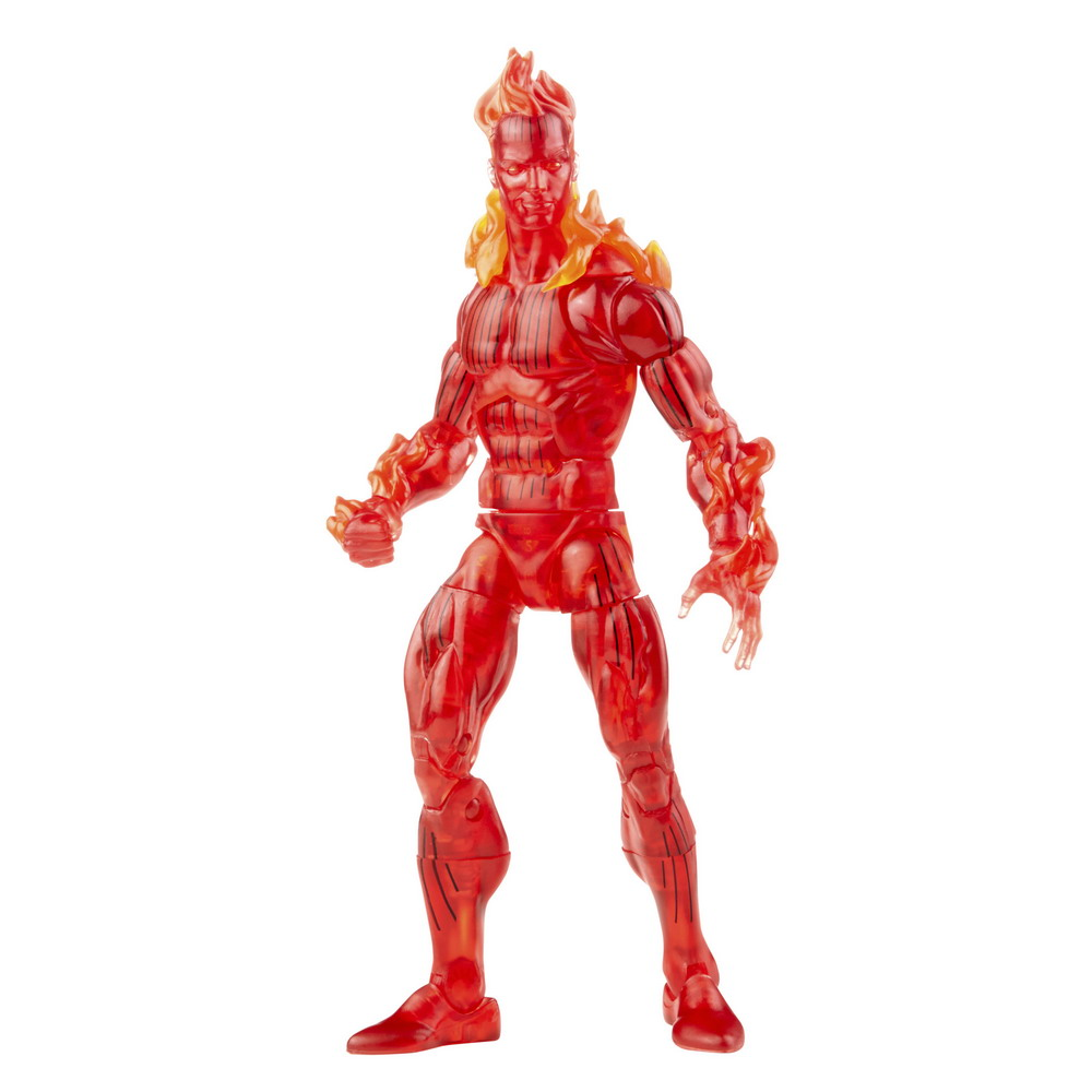 MARVEL LEGENDS SERIES 6-INCH RETRO FANTASTIC FOUR THE HUMAN TORCH Figure_oop 5