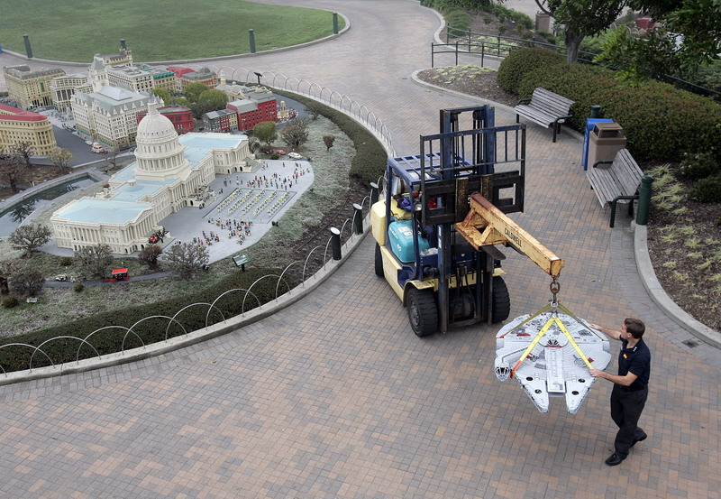Lego Star Wars Miniland Takes Shape