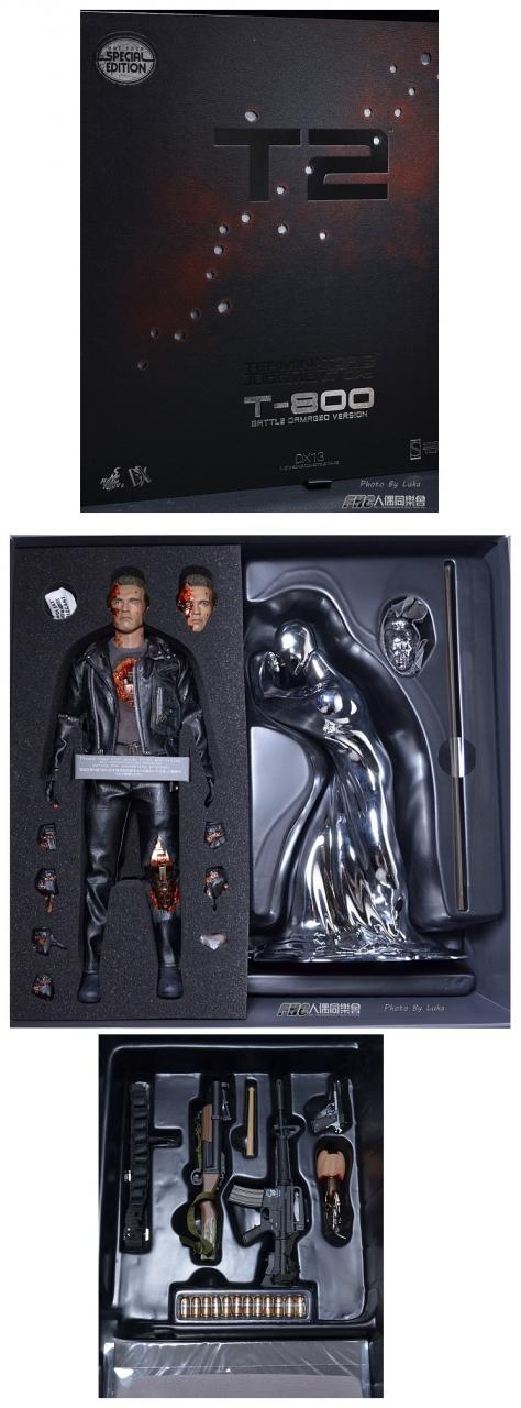 Hot Toys Terminator 2 T-800 DX 13  battle damaged  HANDS   1//6th Scale