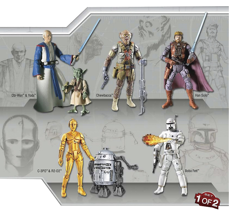 1 Of 2 Ralph Mcquarrie Concept Collection Action Figure Set Star Wars