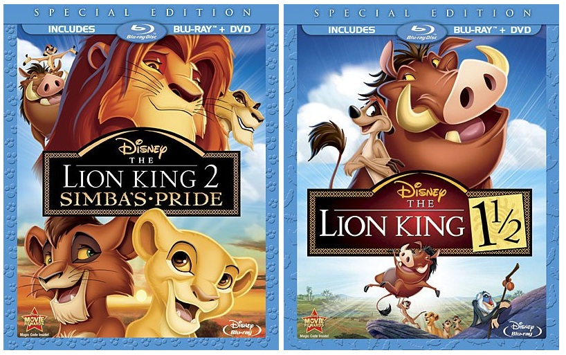 Movies Tv Games Blu Ray Review The Lion King 2 And 1 1 2