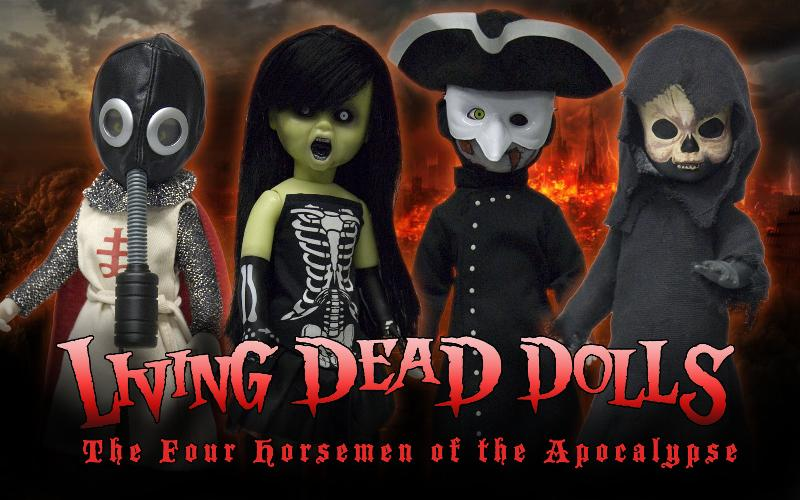 Mezco: Living Dead Dolls: The Four Horsemen Of The Apocalypse