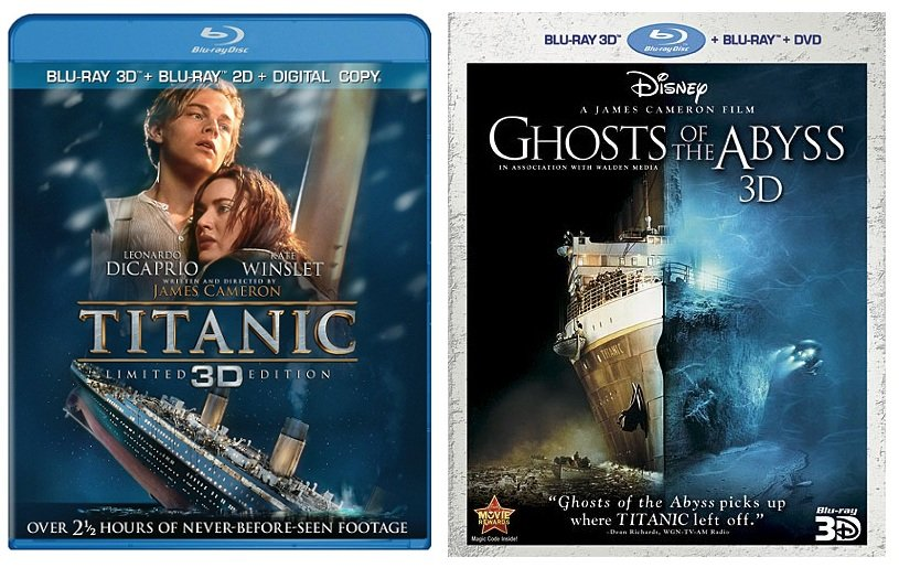 titanic blu ray  Movies/TV/Games: BLU-RAY REVIEW: Titanic 3D & Ghosts of the Abyss 3D