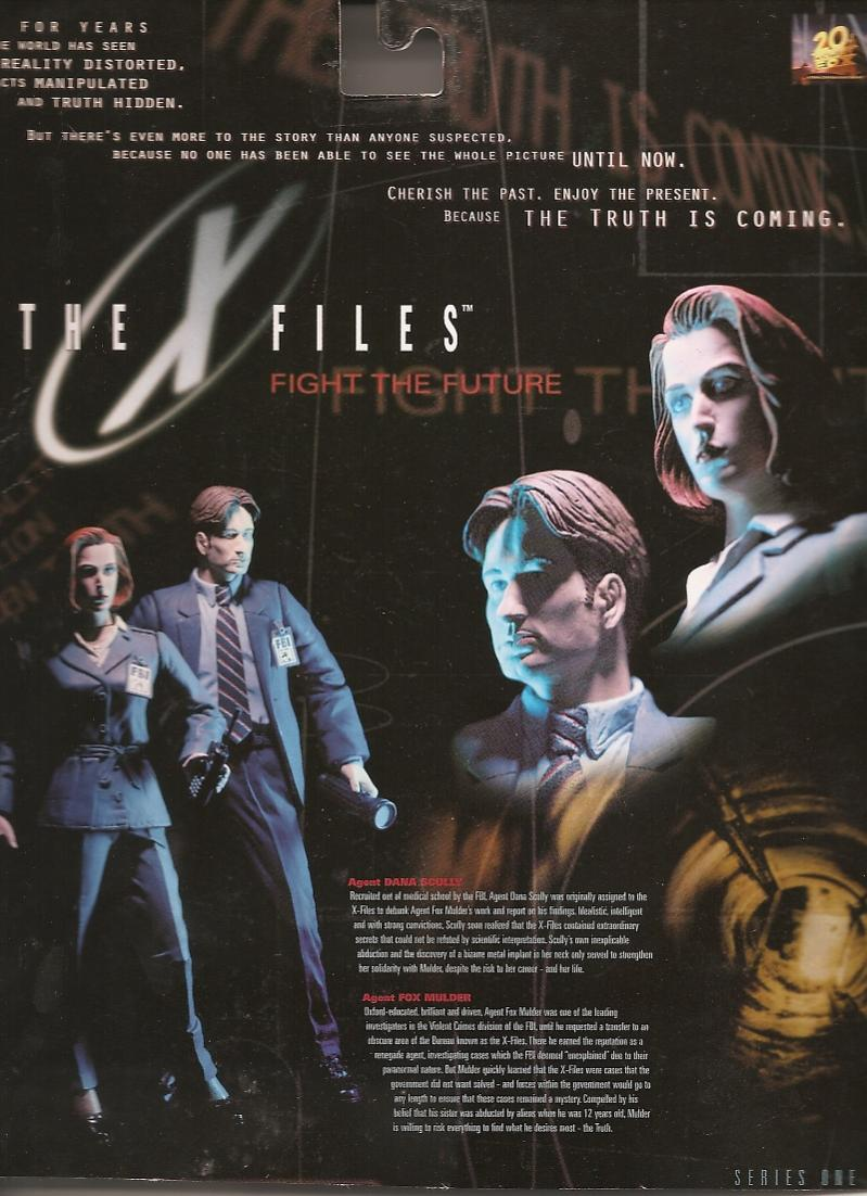 Card Back Mcfarlane Toys The X Files Fight The Future 1998